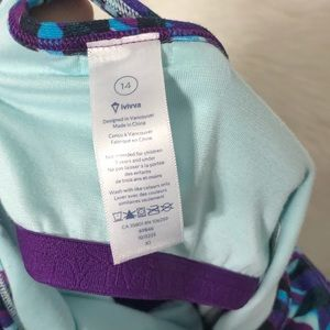 Ivivva Shirts & Tops - Ivivva by Lululemon 2 in 1 tank top Sz. 14
